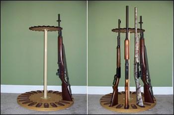 Campbell Gun Racks Magnetic Rotary Long Gun Rack