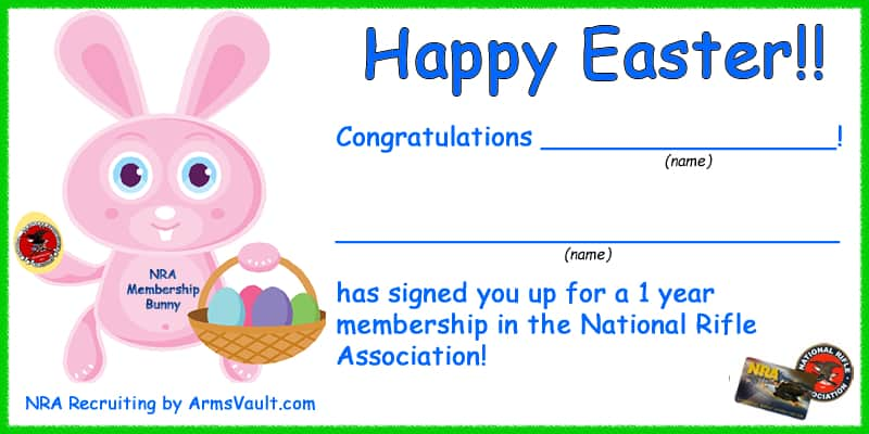Nra gift membership lamoureph blog for Nra certificate template