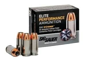 Sig Sauer 9mm Elite Performance V-Crown Jacketed Hollow Point