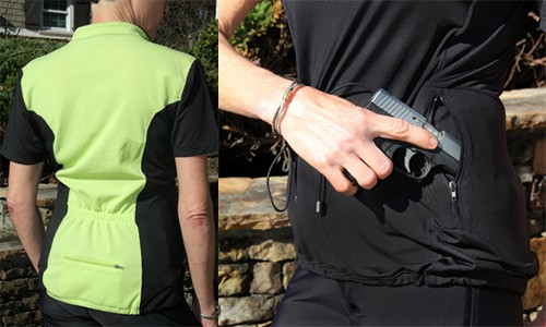 Concealed Carrie Athletic Shirt for Handgun Concealment
