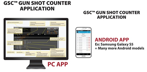 Secubit GSC Gun Shot Counter PC App