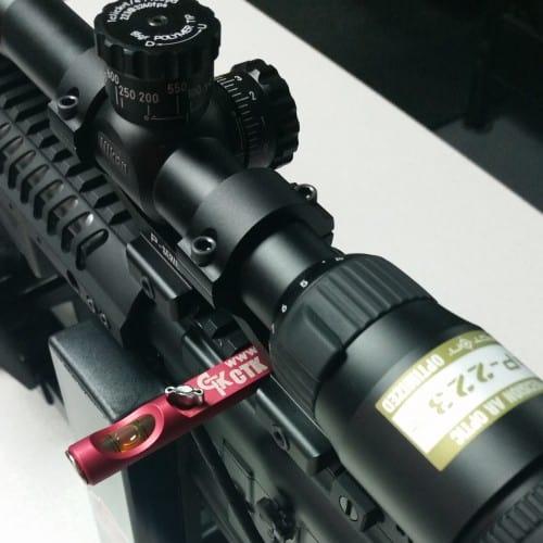 Nikon P-223 Riflescope with CTK Precision All Purpose Gun Level