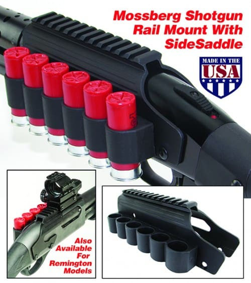TacStar Shotgun Rail Mount with Side Saddle on Mossberg