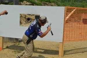 Larry Houck at USPSA Area 7 with FNS-9 Longslide