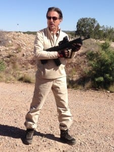 Joe Mantegna showing off his TAVOR Rifle