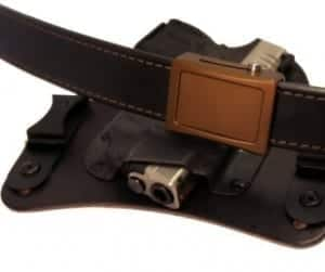 ARES AEGIS Crossover Belt shown with the Bronze Ares Buckle