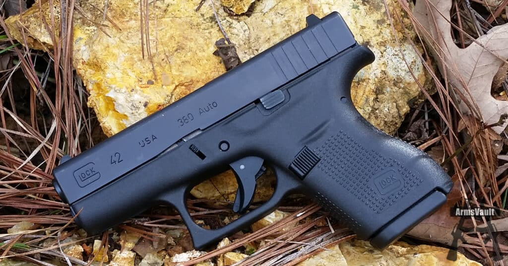 Glock 42 with Sig 380 Auto Elite Performance FMJ - ArmsVault