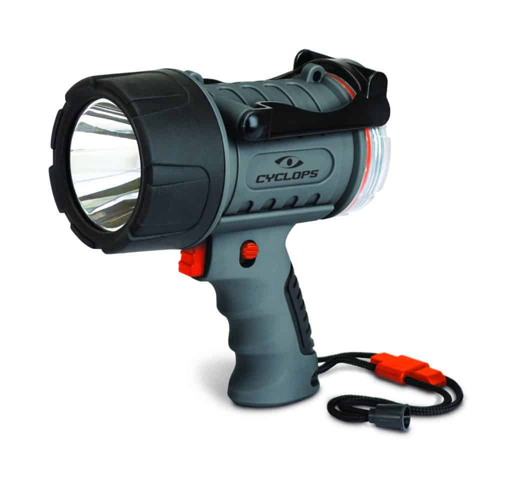 Led Spotlight Rechargeable: Cyclops 300 Lumen Rechargeable Waterproof LED Spotlight