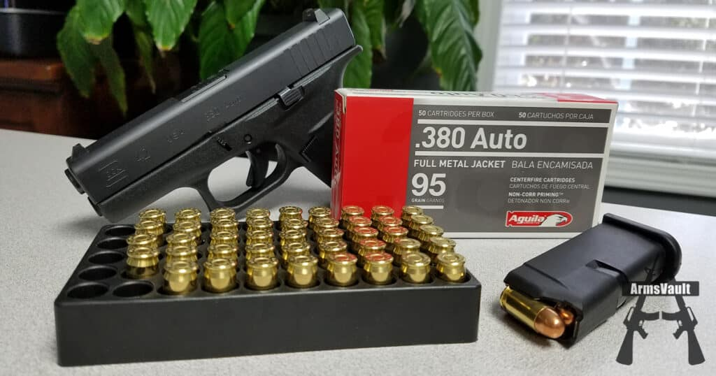 aguila auto 95gr fmj ammunition armsvault