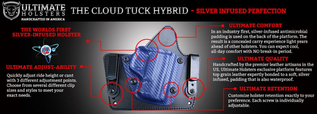 Ultimate Holsters Cloud Tuck Silver Infused Holsters