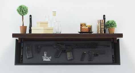 Tacticalwalls Rifle Length Shelves With Rfid Locks Armsvault