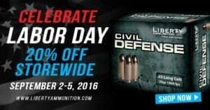 Liberty Ammunition Labor Day Sale