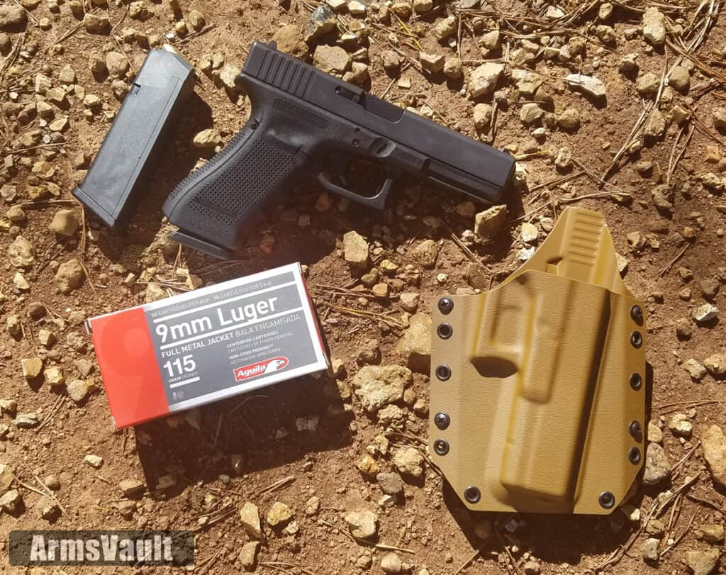 Glock 17 - Bravo Concealment Holster - Aguila 9mm Ammo