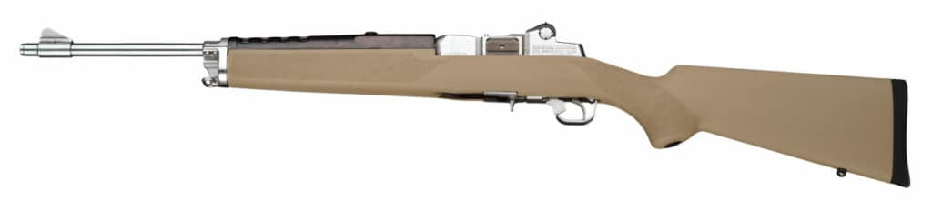 Hogue Flat Dark Earth Rifle Stock on Ruger Mini 14