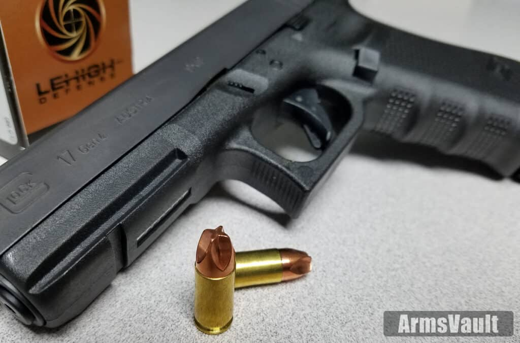 Glock 17 with Lehigh Defense 9mm Xtreme Defense Ammo