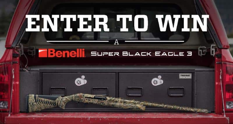 Win a Benelli Super Black Eagle 3 Shotgun from TruckVault