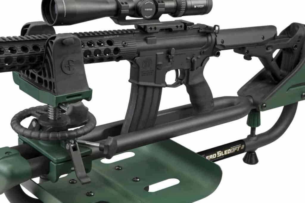 Caldwell Lead Sled DFT 2 Shooting Rest with AR-15