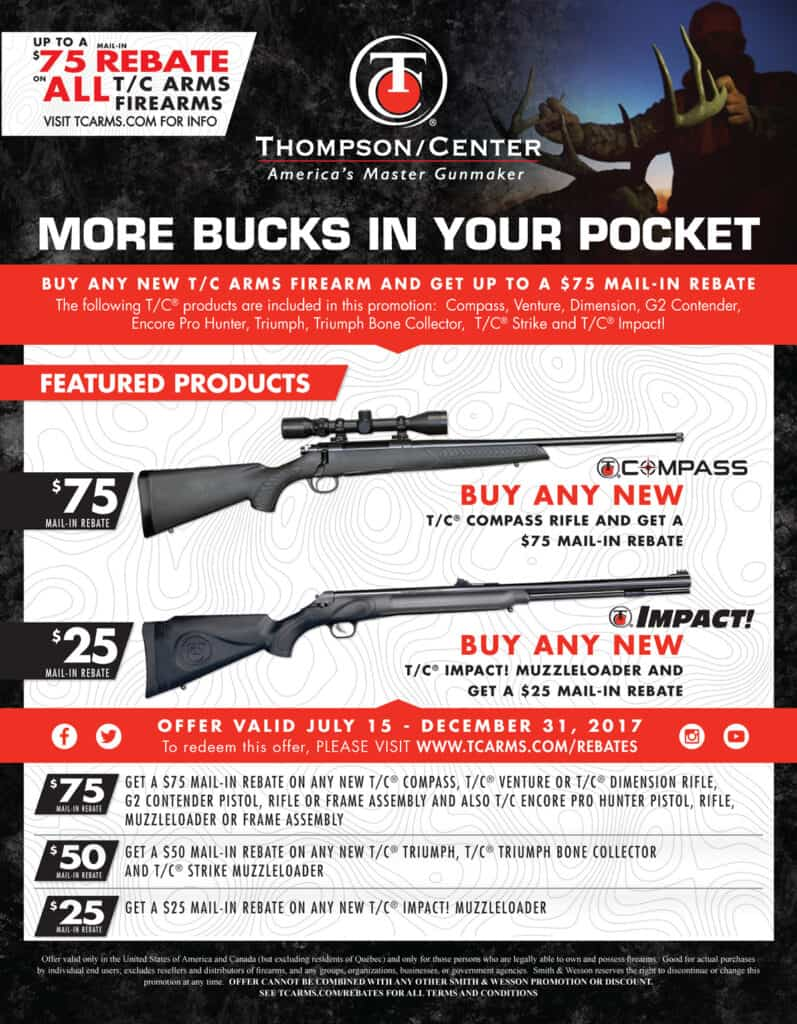 Thompson Center Arms Rebate - TC Firearms Rebate