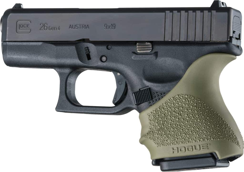 Hogue HandALL Beavertail Grip Sleeve_Glock 26_OD Green