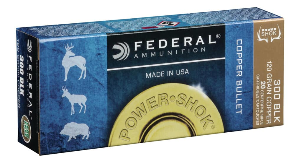 Federal 300 Blackout 120-grain Power-Shok Copper