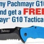 Free Pachmayr G10 Tactical Knife with Purchase of Pachmayr G10 Grip