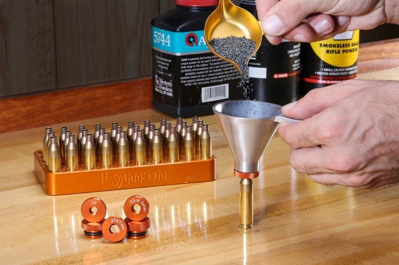 Lyman Brass Smith Powder Measure and Precision Funnel Set
