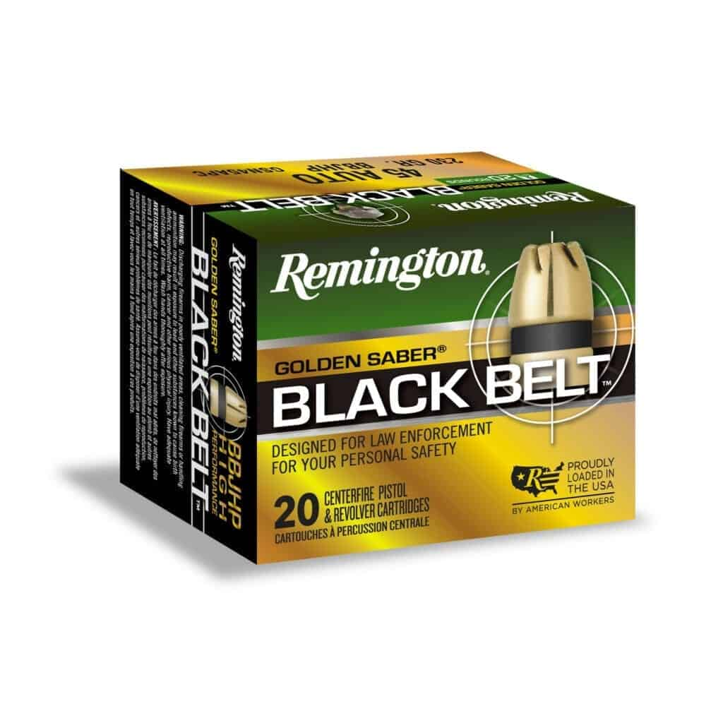 Remington Golden Saber Black Belt 45 Auto 230 Grain BBJHP