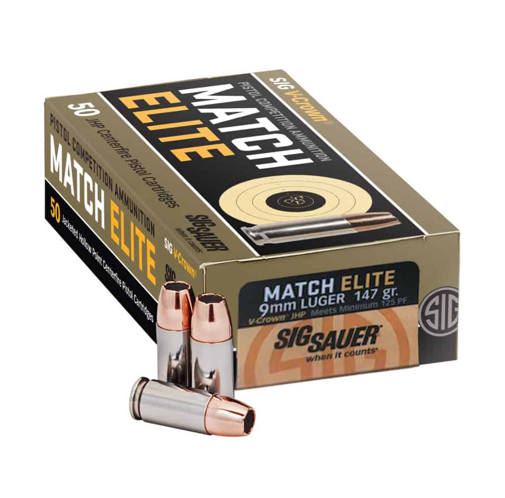 Sig Sauer Match Elite Ammunition