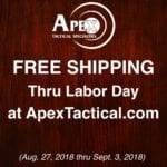 Apex Tactical Labor Day Sale